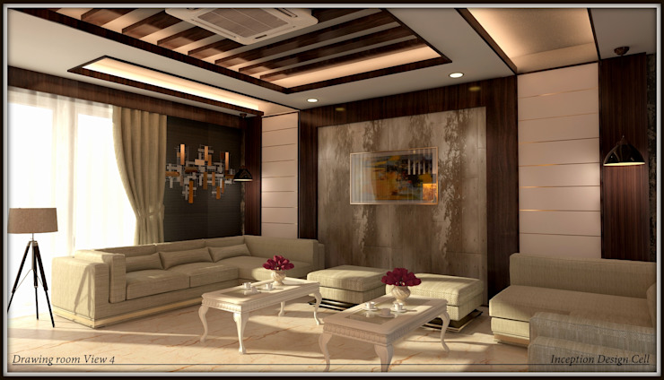 Villa Project Modern living room by Inception Design Cell Modern Engineered Wood Transparent