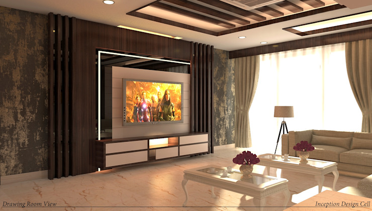 Villa Project Modern living room by Inception Design Cell Modern Wood Wood effect