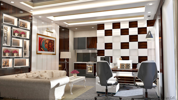 Villa Project Modern study/office by Inception Design Cell Modern Wood Wood effect