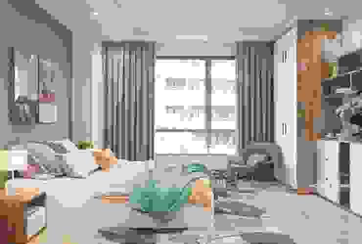 Thiết kế nội thất chung cư Time City bởi Home&Home: scandinavian  by Công ty cổ phần kiến trúc nội thất Home&Home, Bắc Âu