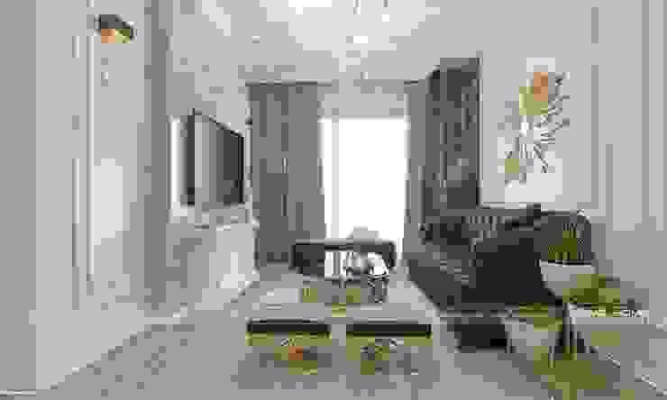 Thiết kế nội thất phòng khách: hiện đại  by Công ty cổ phần kiến trúc nội thất Home&Home, Hiện đại