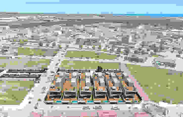 Diseño de chalets con piscinas de ARQUIJOVEN SLP Mediterráneo