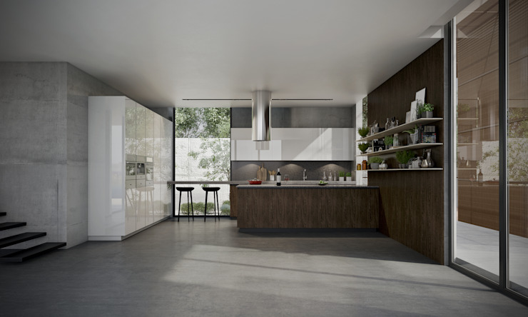 Contemporary Oasis Signature Kitchen Modern style kitchen MDF Brown