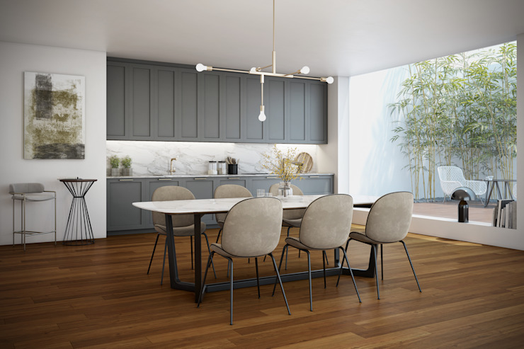 Mordern Classic - Signature Kitchen Signature Kitchen Modern style kitchen MDF Grey