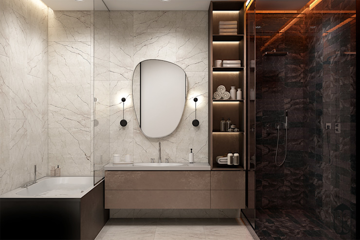 Eclectic style bathrooms by U-Style design studio Eclectic