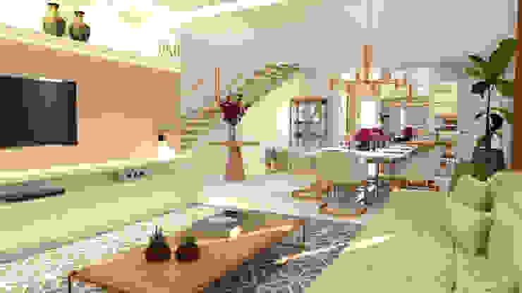 Sala de Estar com cores neutras Salas de estar clássicas por Joana Rezende Arquitetura e Arte Clássico