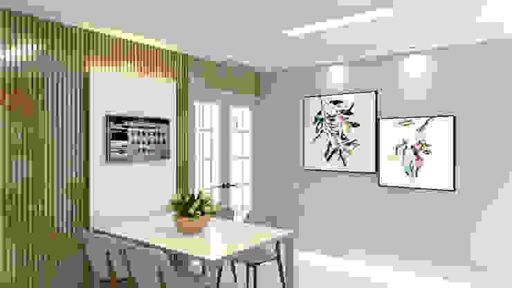 Cozinha com porta clássica para a área externa Cozinhas modernas por Joana Rezende Arquitetura e Arte Moderno Madeira Efeito de madeira