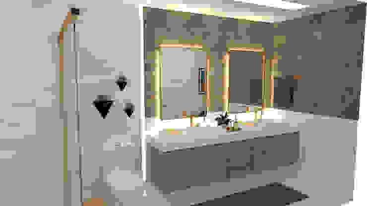Banheiro de casal com cuba dupla e iluminação especial Banheiros clássicos por Joana Rezende Arquitetura e Arte Clássico