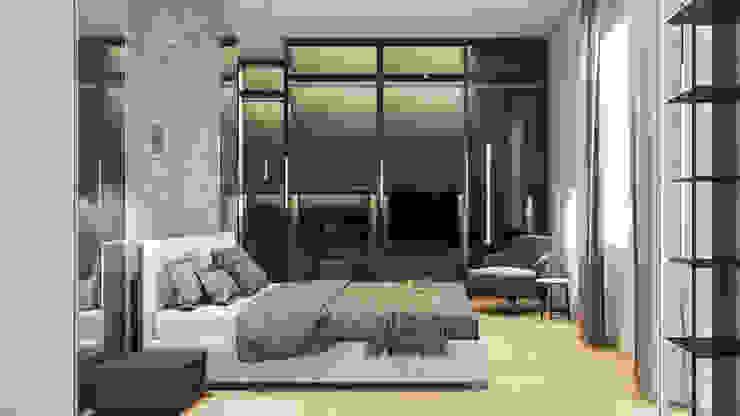Master Bedroom Aeon Studio Camera da letto minimalista Vetro Grigio