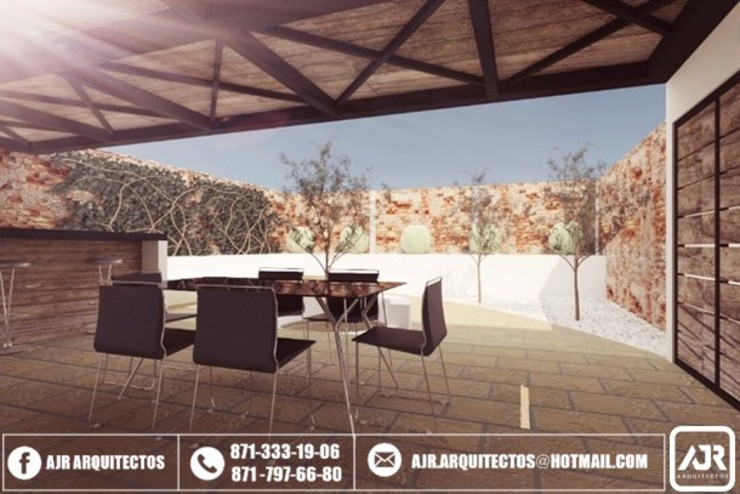 AJR ARQUITECTOS Modern Terrace