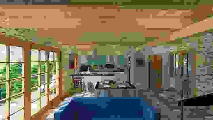 Arq. Rodrigo Culebro Sánchez Rustic style living room