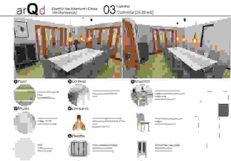 Comedor: Comedores de estilo  por ARQD spa, Escandinavo