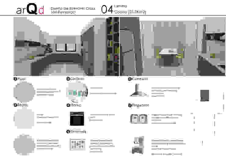 Cocina: Muebles de cocinas de estilo  por ARQD spa, Escandinavo
