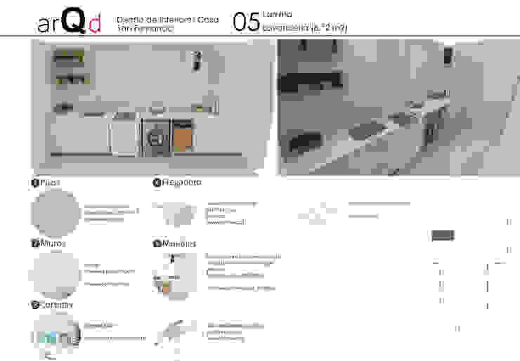 Logia: Cocinas equipadas de estilo  por ARQD spa, Escandinavo
