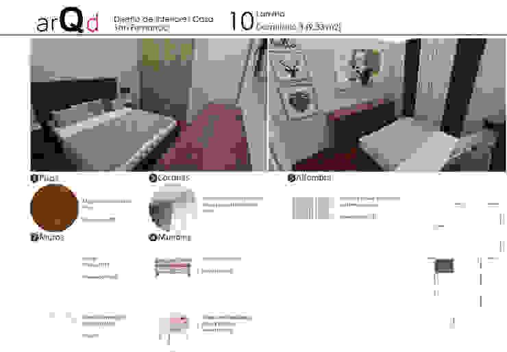 Dormitorio: Dormitorios de estilo  por ARQD spa, Escandinavo