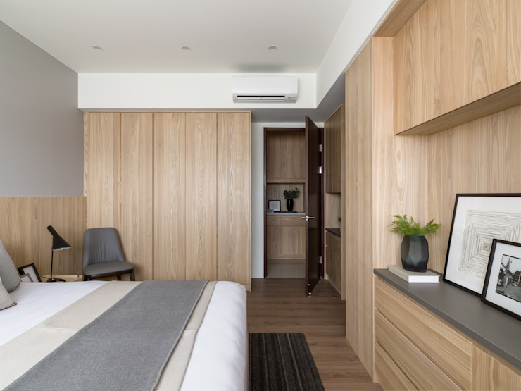 主臥 Modern Bedroom by 存果空間設計有限公司 Modern