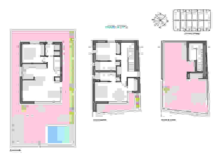 Diseño de chalet de dos plantas y solarium de ARQUIJOVEN SLP Mediterráneo