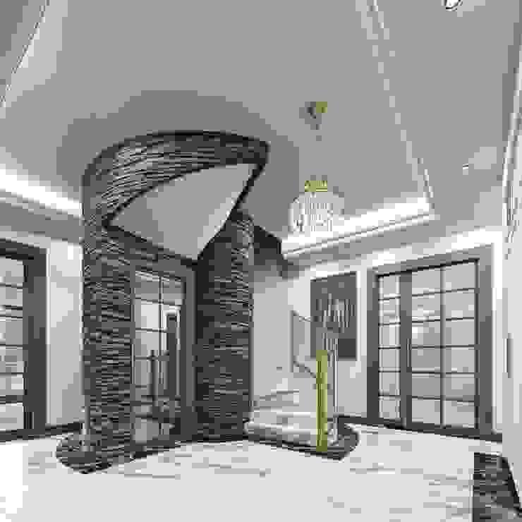 VERO CONCEPT MİMARLIK Couloir, entrée, escaliers modernes