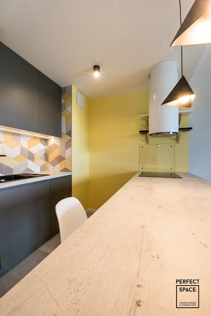 Perfect Space Unit dapur Yellow