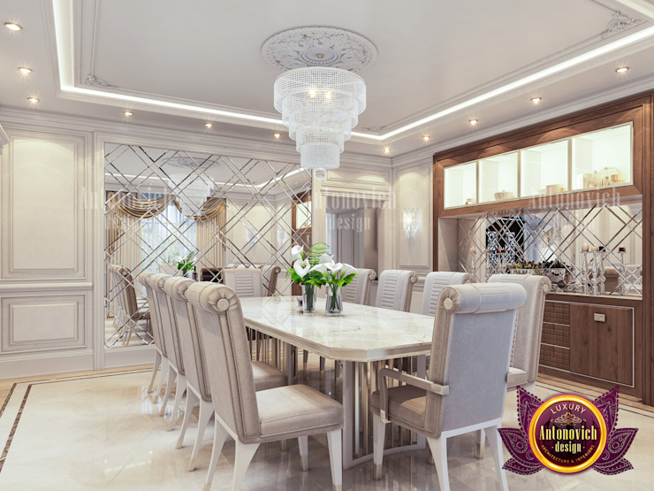 Modern Elegant Theme for Dining Room Interior by Luxury Antonovich Design
