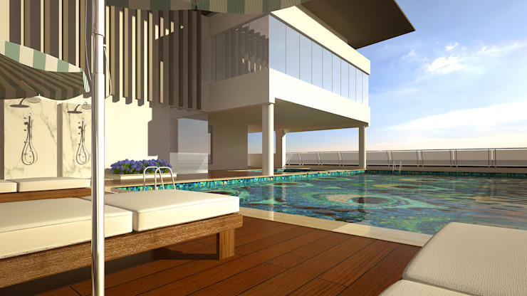 De Panache - Interior Architects Moderne Pools