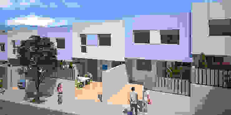 Diseño de fachada de ARQUIJOVEN SLP Moderno Aluminio/Cinc