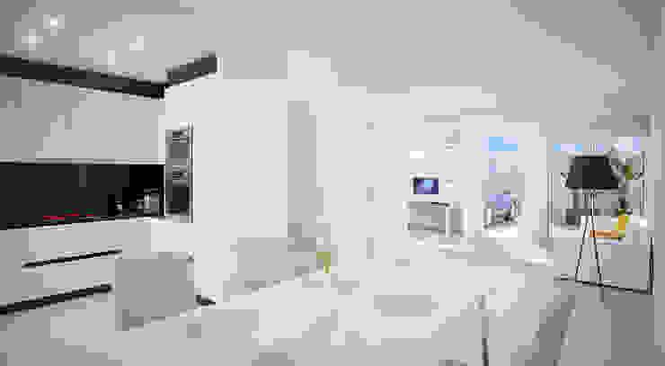 Diseño de zona de estar Salones de estilo moderno de ARQUIJOVEN SLP Moderno Madera Acabado en madera