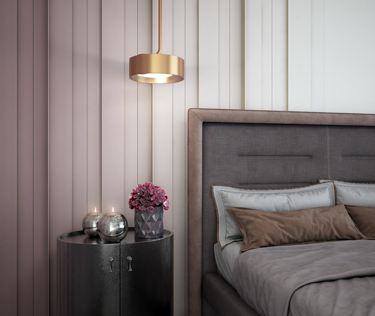 Eclectic style bedroom by naer interior Eclectic Copper/Bronze/Brass