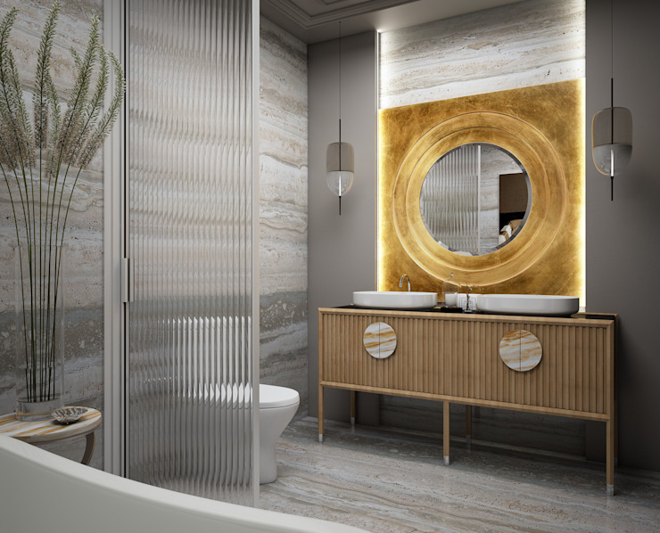 Eclectic style bathroom by naer interior Eclectic Marble