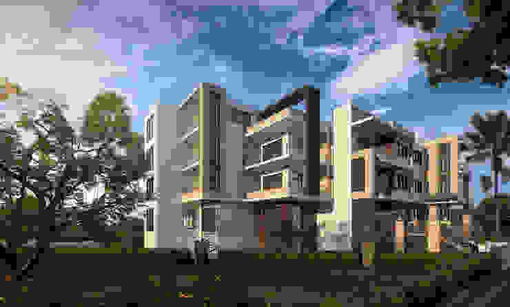 عمارة سكنية من Karim Elhalawany Studio حداثي