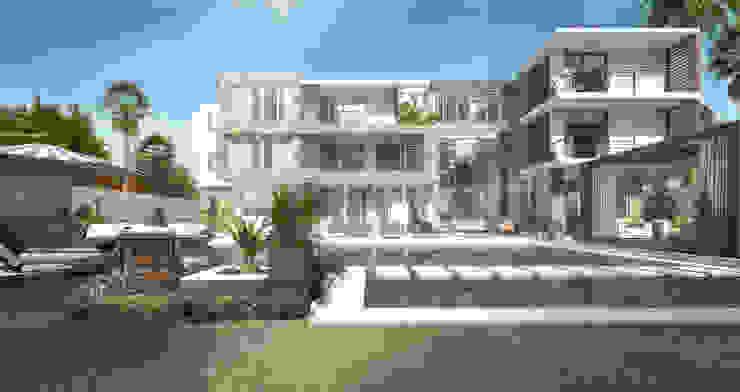 فيلا سكنية من Karim Elhalawany Studio حداثي