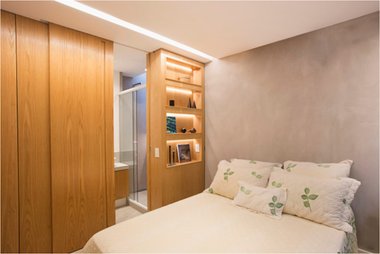 Modern style bedroom by Viviane Cunha Arquitectura Modern