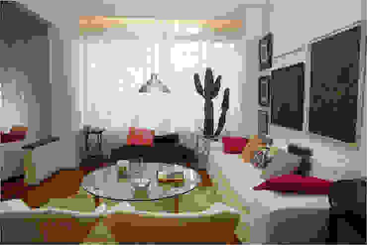 Apartamento RHL Salas de estar modernas por Viviane Cunha Arquitectura Moderno