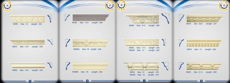 كتالوج الممتاز لكرانيش الجبس الماليزي من مصنع الممتاز لكرانيش الجبس المعالج