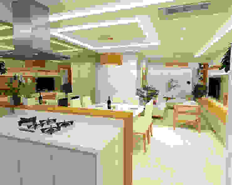 Entrada do apartamento Salas de jantar minimalistas por Dédalo Arquitetura e Planejamento Minimalista Quartzo
