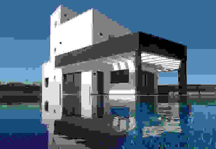 Proyecto casa unifamiliar con piscina de ARQUIJOVEN SLP Moderno