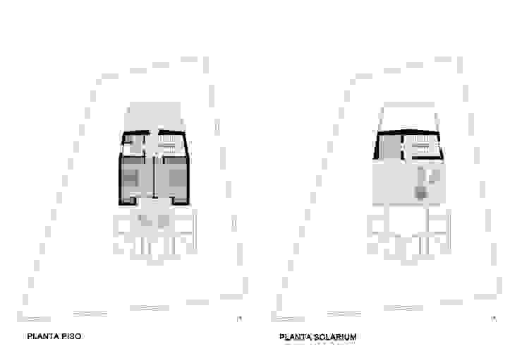 Diseño plantas vivienda unifamiliar de ARQUIJOVEN SLP Moderno