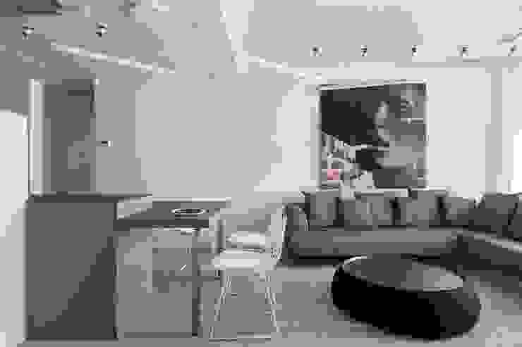 Квартира, 106 м2 Гостиная в стиле минимализм от Архитектор Татьяна Стащук Минимализм