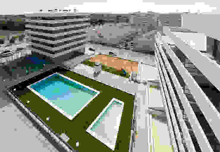 Urbanización con piscina de ARQUIJOVEN SLP Minimalista