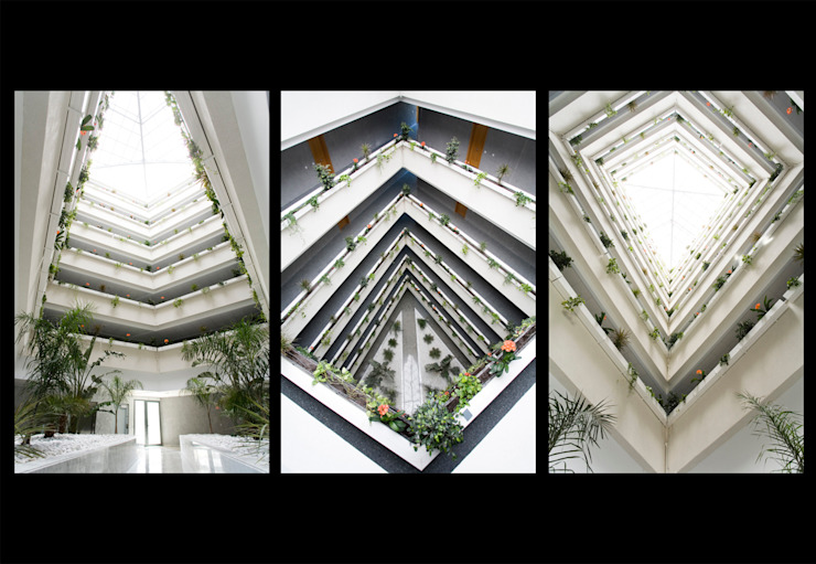 Diseño de patio interior-Edificio de viviendas Casas de estilo minimalista de ARQUIJOVEN SLP Minimalista
