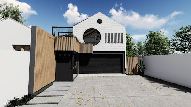 Exterior Facade Designs by UpStudio Architects Modern