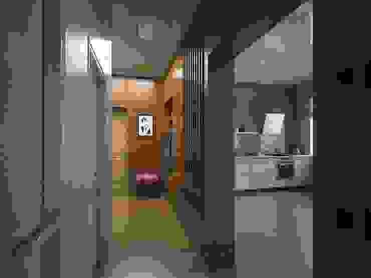 Проект перегородки со шкафом и кухней Коридор, прихожая и лестница в стиле минимализм от Вадим Марков Минимализм
