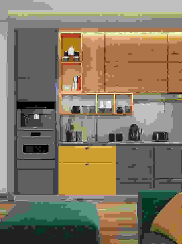Nhà bếp phong cách công nghiệp bởi Interior designers Pavel and Svetlana Alekseeva Công nghiệp