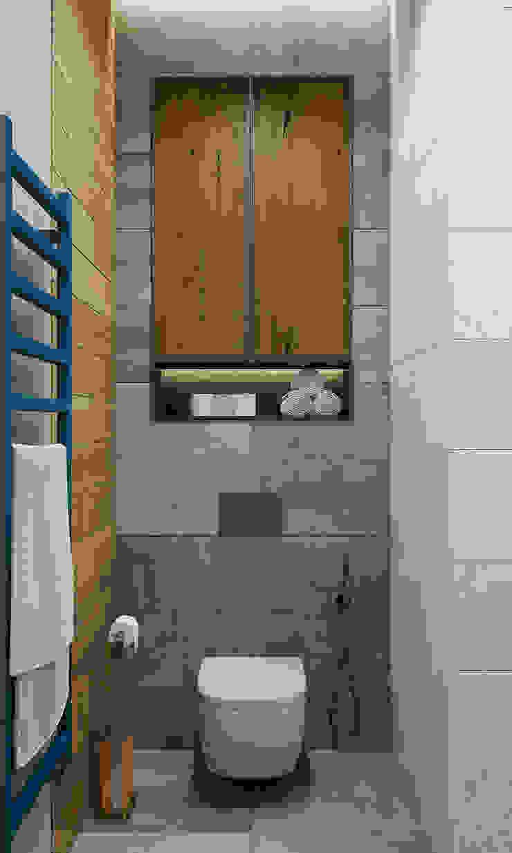 Phòng tắm bởi Interior designers Pavel and Svetlana Alekseeva Công nghiệp