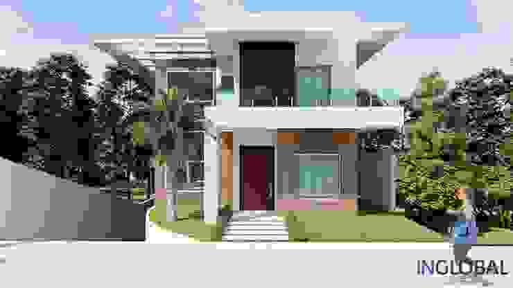 FACHADA MODERNA -BRASILIA-DF por Inglobal planejamentos Moderno Concreto