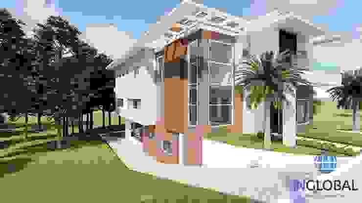FACHADA MODERNA por Inglobal planejamentos Moderno Concreto