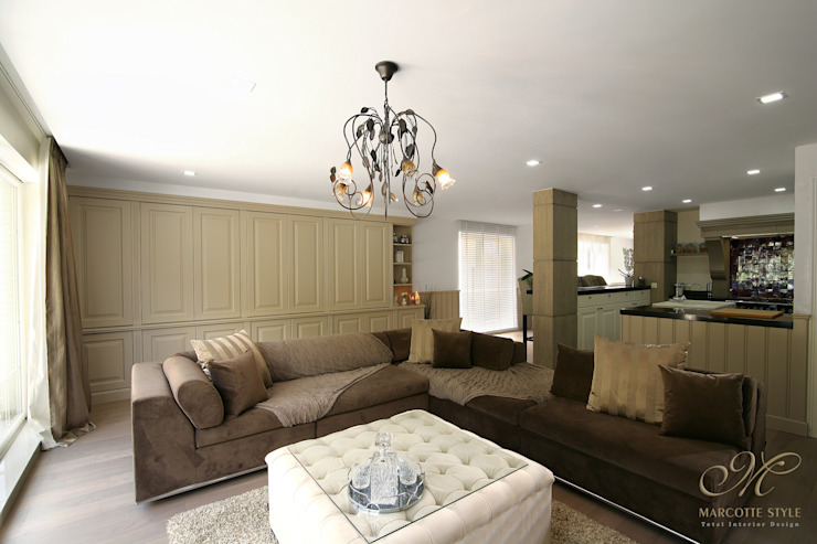 Zetel op maat of een bank op maat: Marcotte Style Landelijke woonkamers