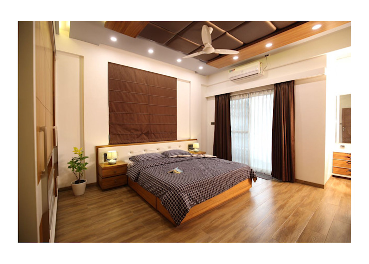 3BHK | Mr. Nikhil Jathar | Future Towers, Amnora Hadapsar, Pune Modern style bedroom by Nikhil Kanthe Modern