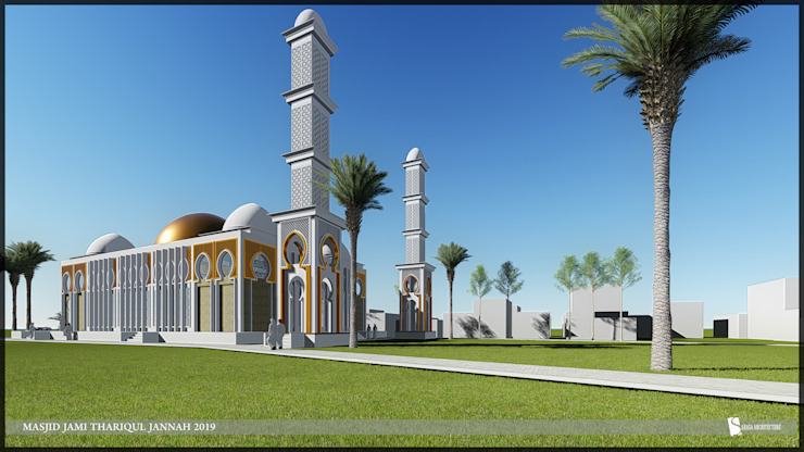 Masjid Jami Thariqul jannah Oleh SARAGA Studio Arsitektur