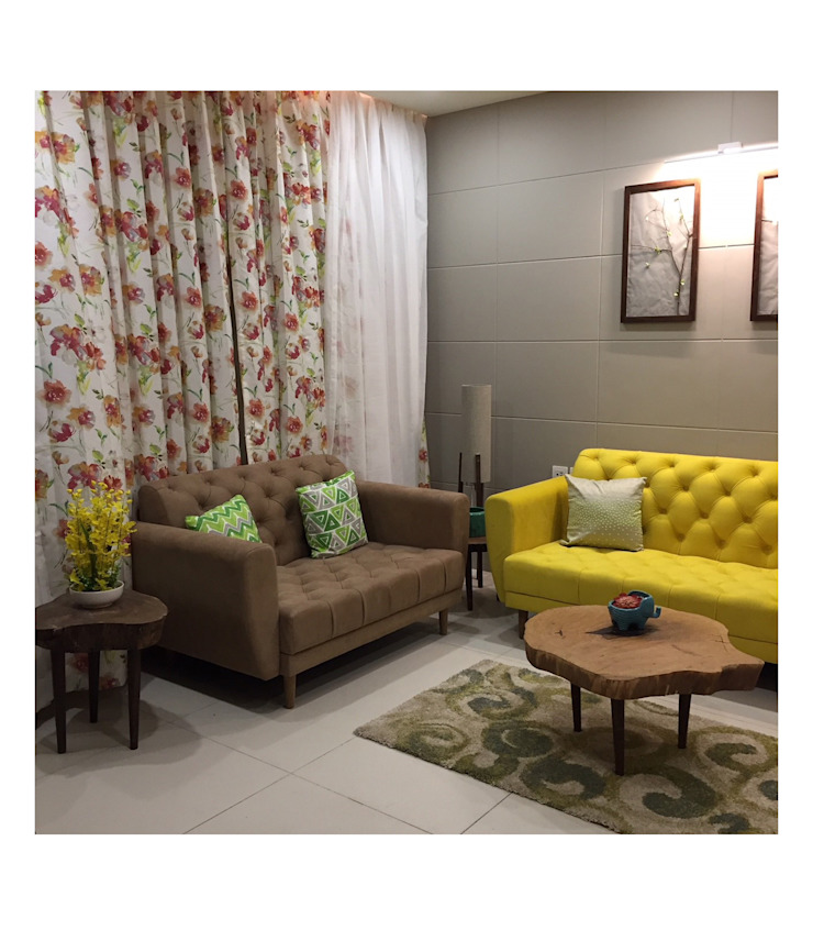 2BHK | 24k Wakad, Pune Eclectic style living room by Nikhil Kanthe Eclectic